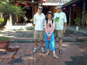 Mom, Dad and I in Hoi An